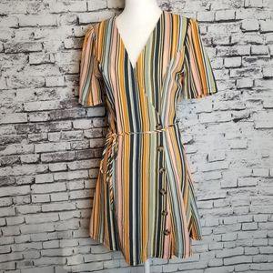 Retro Wrap Style Dress